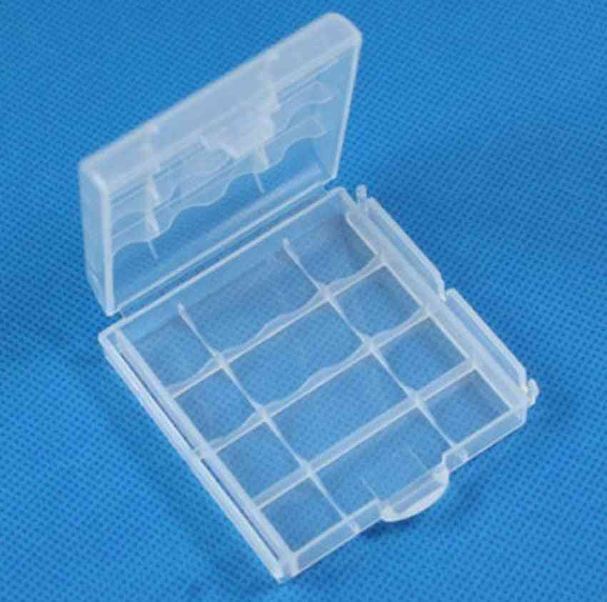 Portable Hard Plastic Case Holder Storage Box Cover For Aa / Aaa Battery
