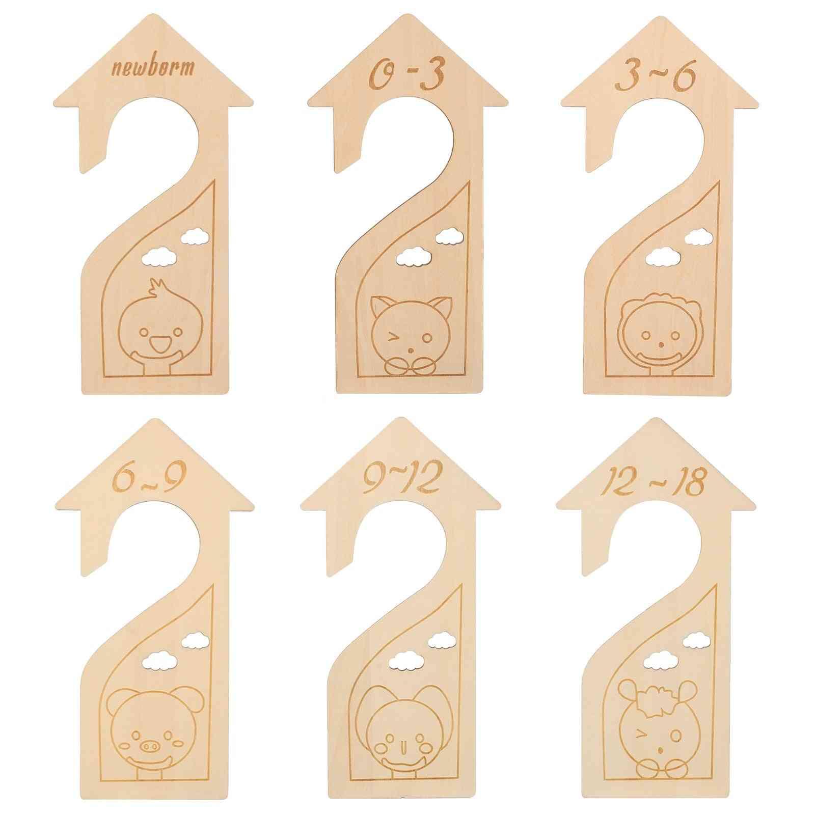 Wood Infant Wardrobe Divider Clothing Size Dividers