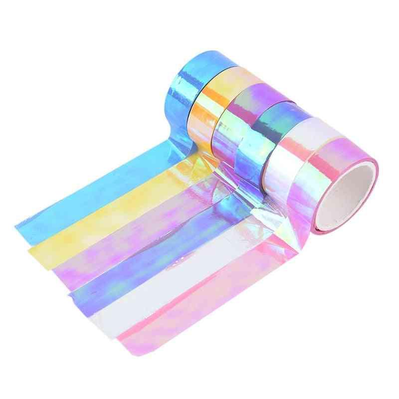 5m Rhythmic Gymnastics Decoration Holographic Rg Prismatic Glitter Tape Hoops Stick