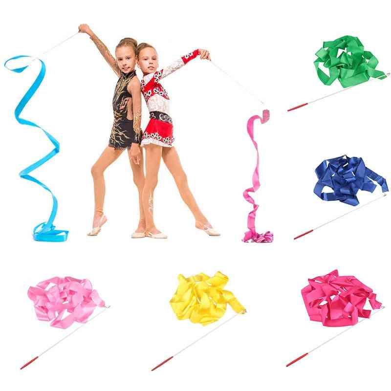 Colorful Rhythmic Gymnastics Dance Ribbon