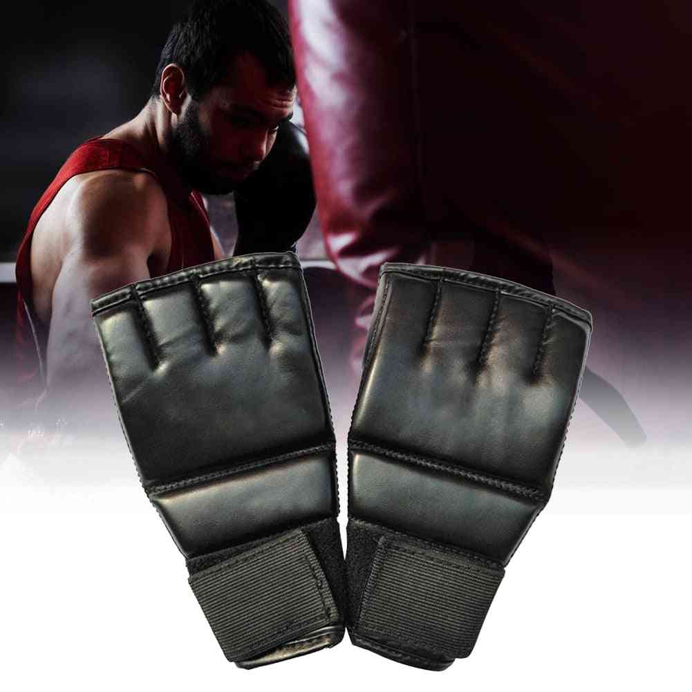 1 Pair Boxing Sports Leather Fight Training Gloves