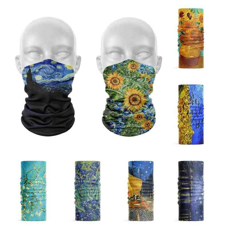 3d Printed Van Gogh Oil Painting Headscarf