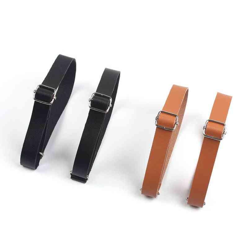 1.5cm Solid Color Elastic Armband Shirt Sleeve Holder  Adjustable Arm Cuffs Bands