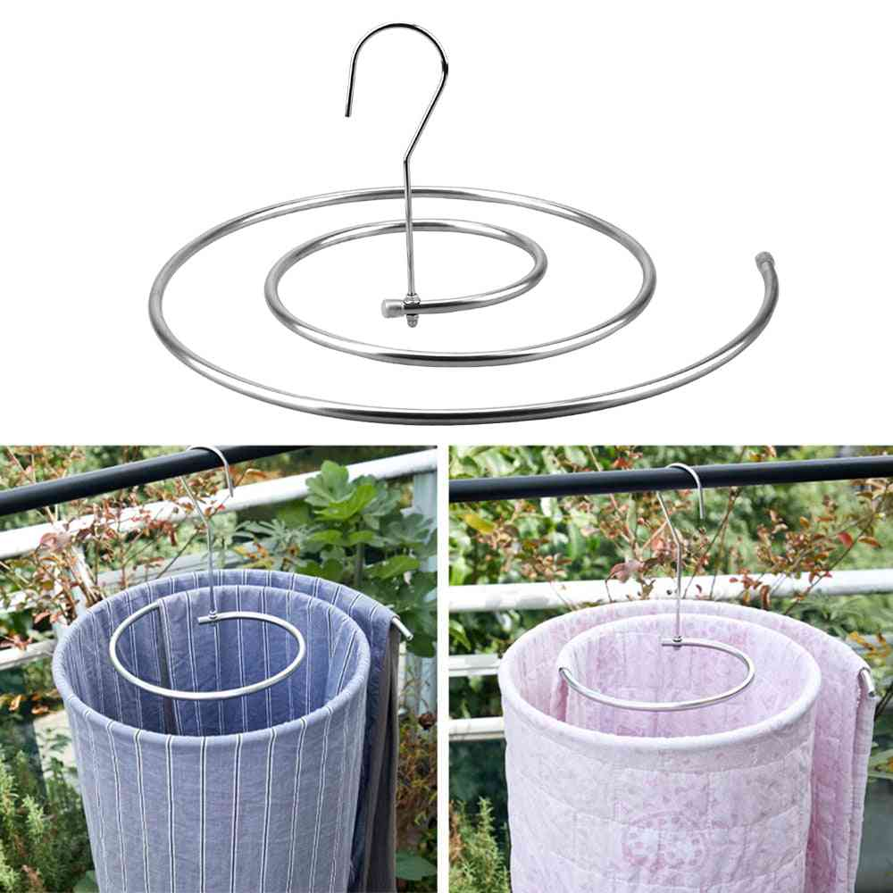 Stainless Steel Round Spiral Quilt Sheets Blanket Hanger