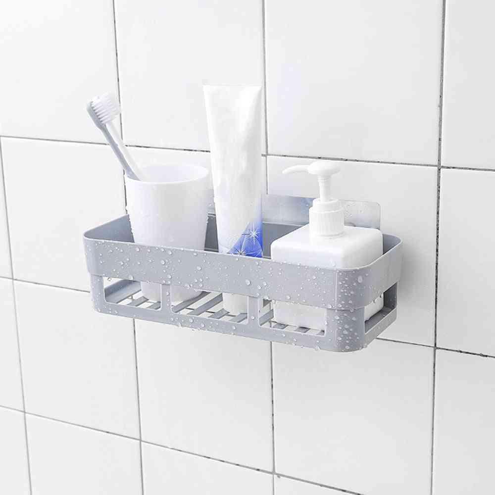 Self-adhesive Wall-mounted Bathroom Rack