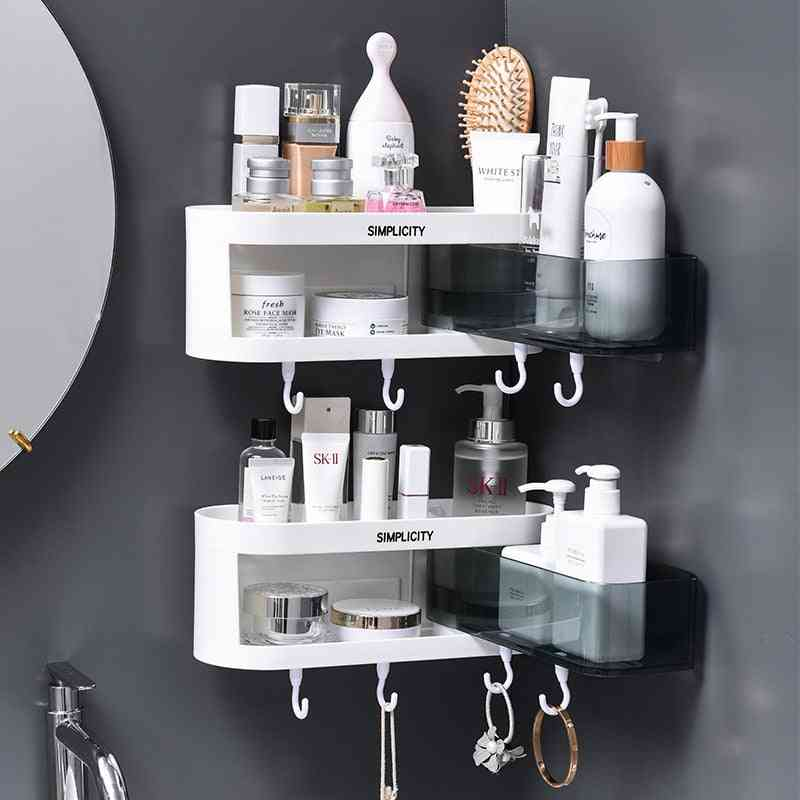 Corner Wall Mounted Bathroom Shelf Storage Rack
