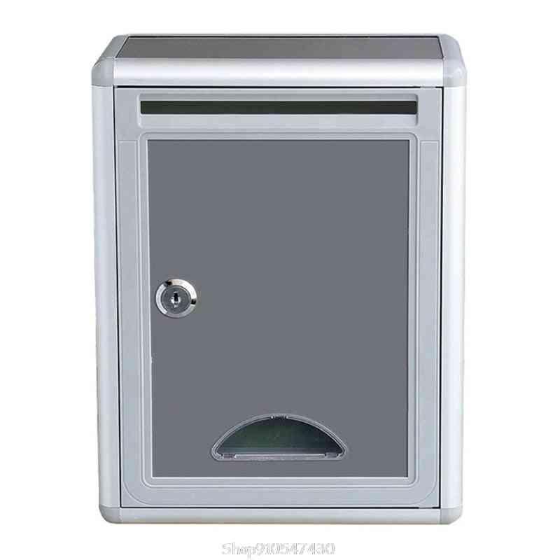Vintage Aluminum Alloy Lockable Secure Mailbox
