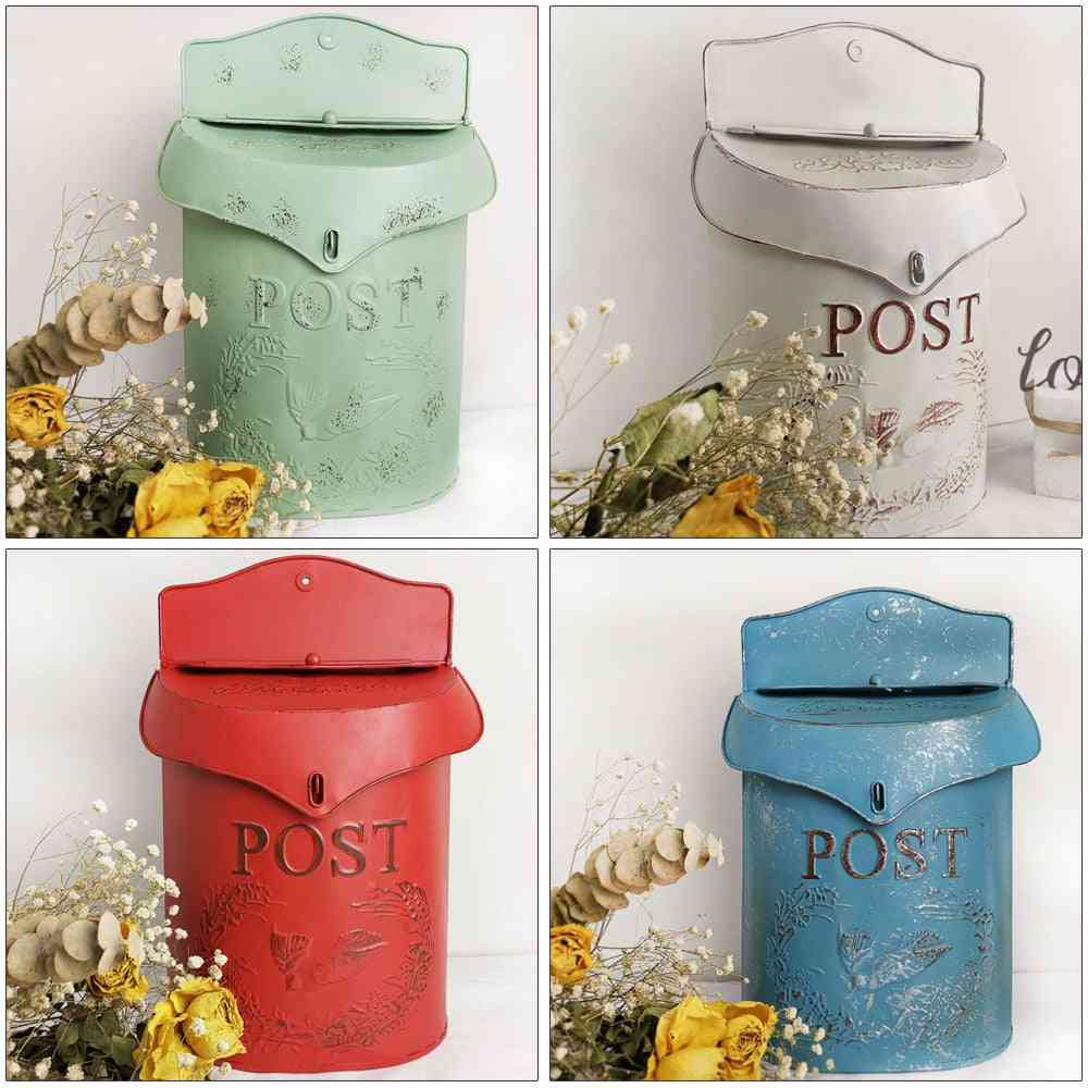 European Retro Style Old Sealed Opinion Newspaper Letter Box