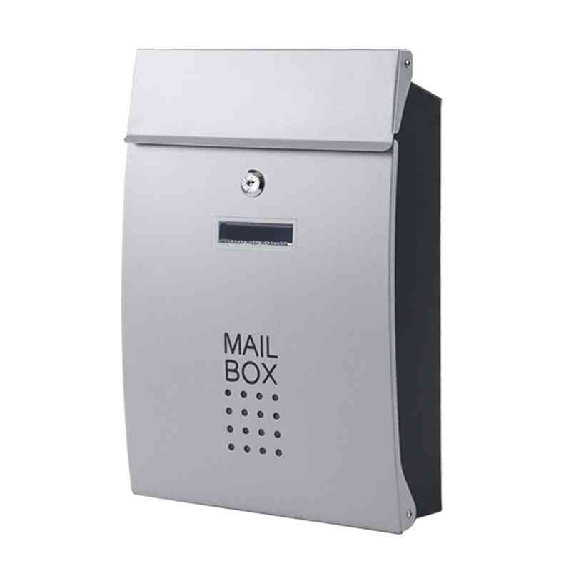 Wall Mounted Stainless Steel Vertical Locking Mail Post Box