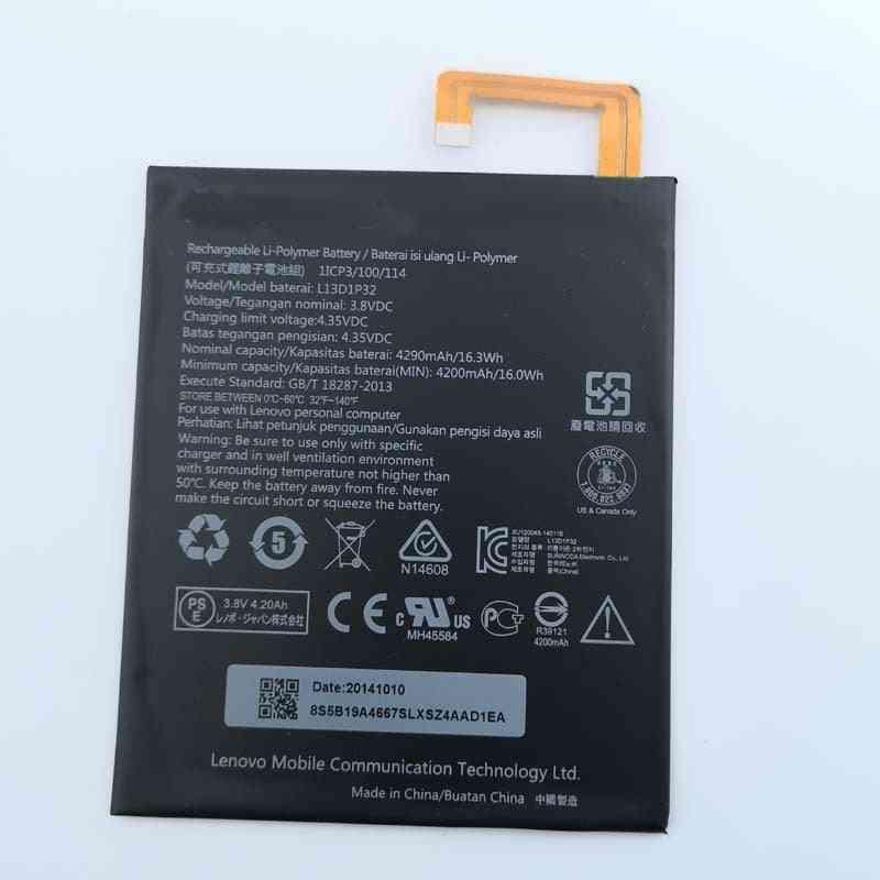 Battery 3.8v 4200mah L13d1p32 For Lenovo Ideatab / Tablet Built-in Battery