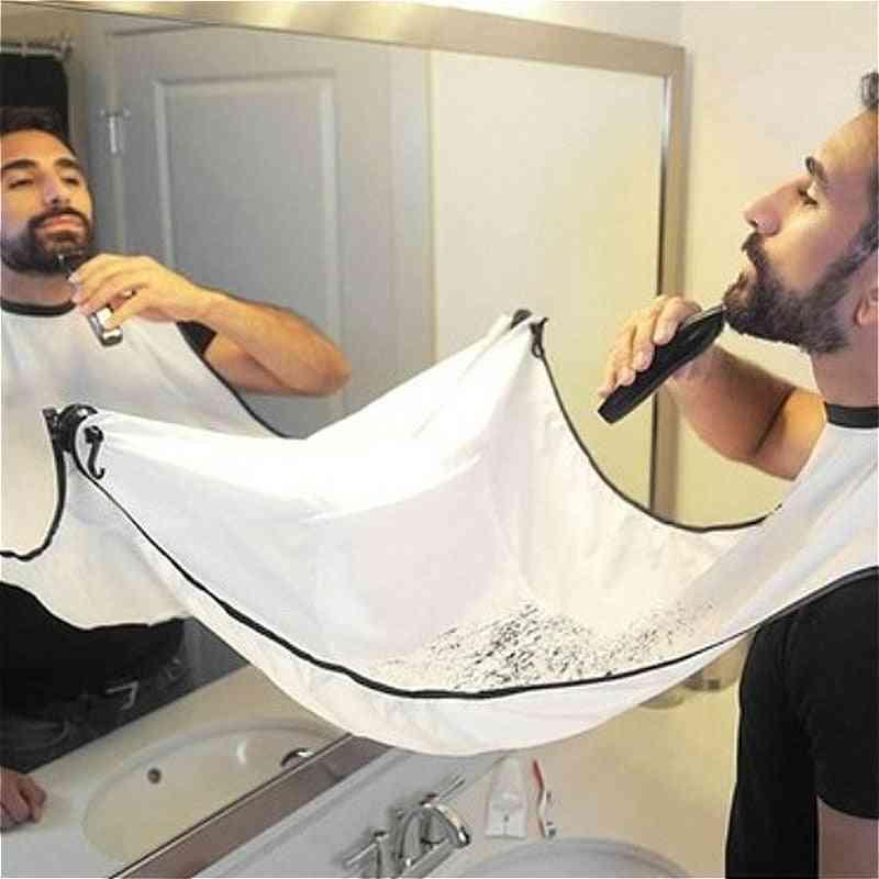 Man Bathroom Male Black Beard Hair Shave Apron