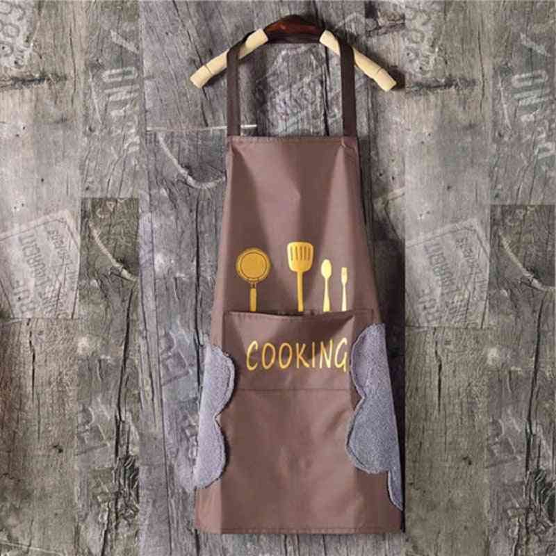 Waterproof And Oil Stain Nordic Fashion Knife Fork Sleeveless Apron