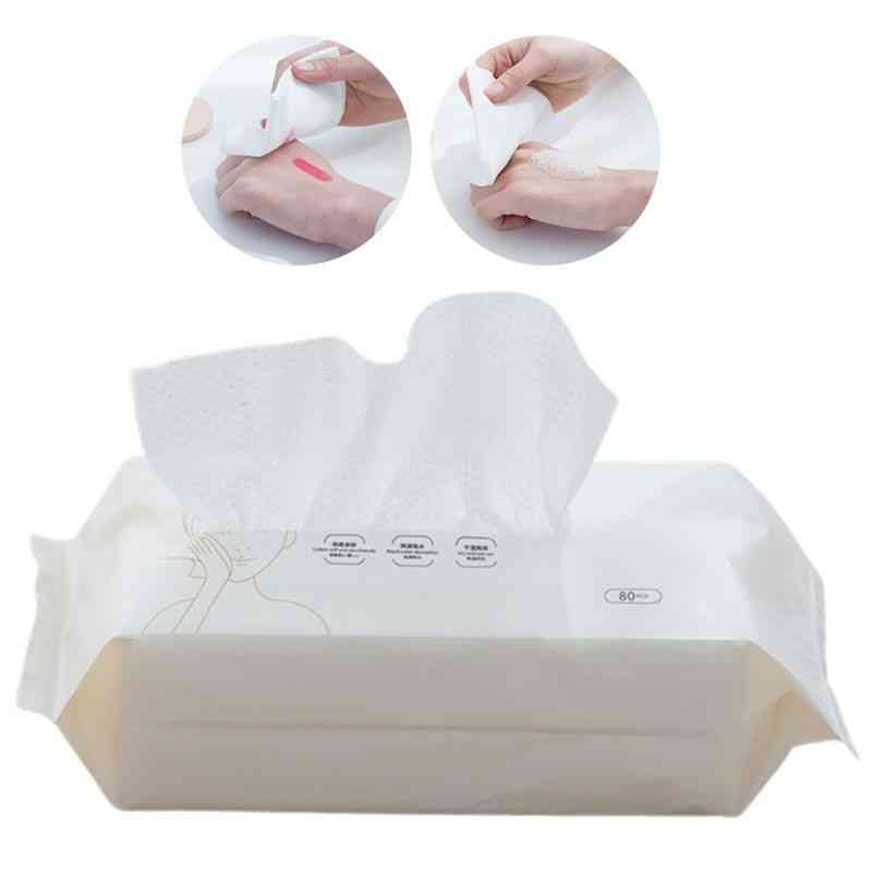 Disposable Cotton Face Tissue Towel Wipes Makeup Remover Facial Cleansing Washcloth Pearl Home Travel Wet Dry