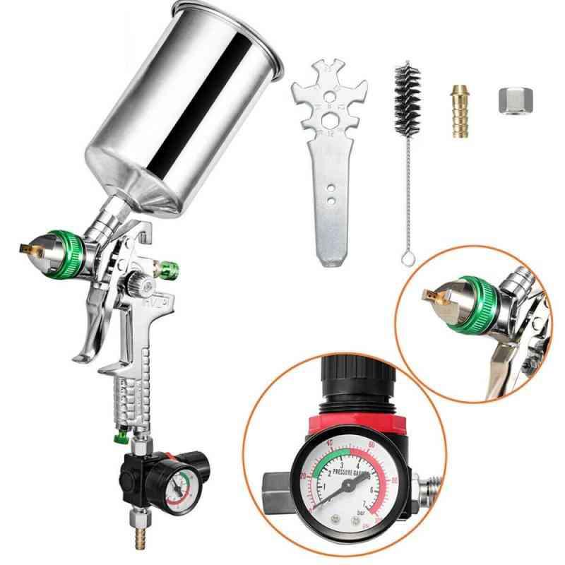 Gravity Feeding Airbrush With Regulator, Paint Primer, Metal Flake Magic Spray Gun, Sprayer Air Brush, Alloy Paint Tool