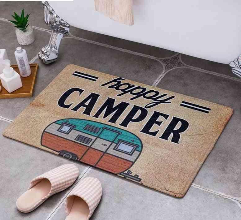 Cartoon Camper Carpet Bathroom Entrance Doormat