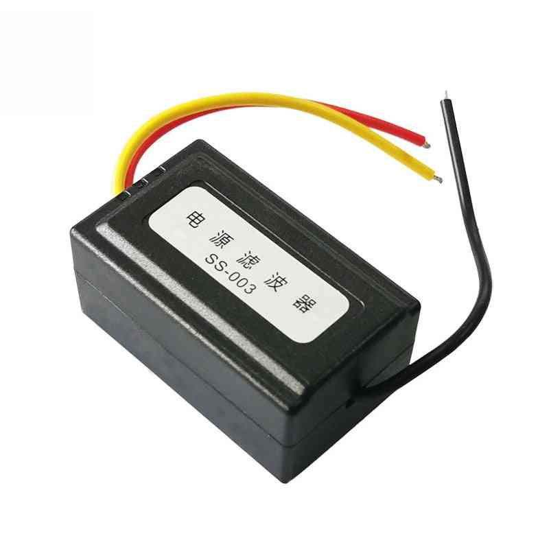 12v Power Supply Pre-wired Black Plastic Audio Power Filter