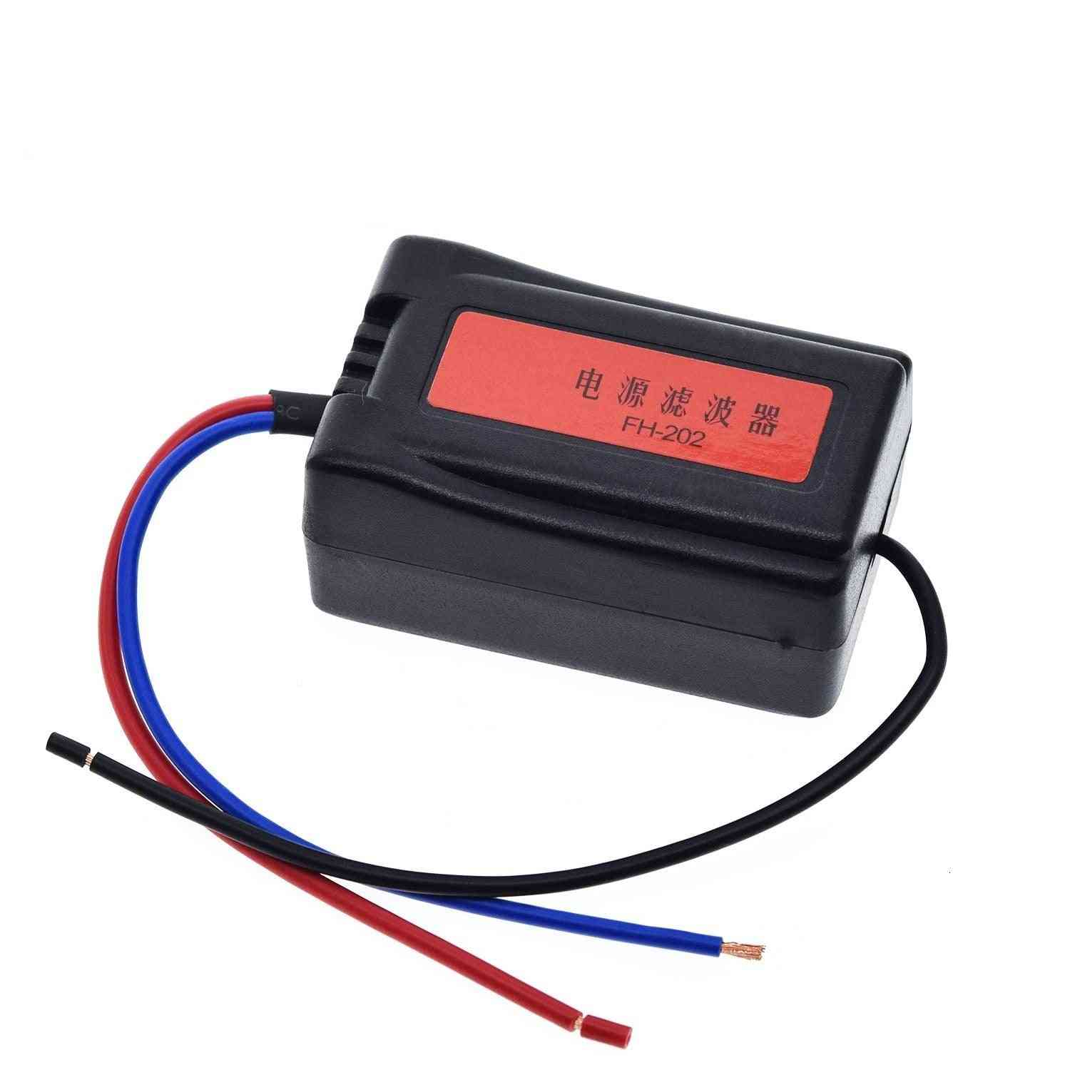 Dc 12v Power Supply Pre-wired Black Plastic Audio Power Filter