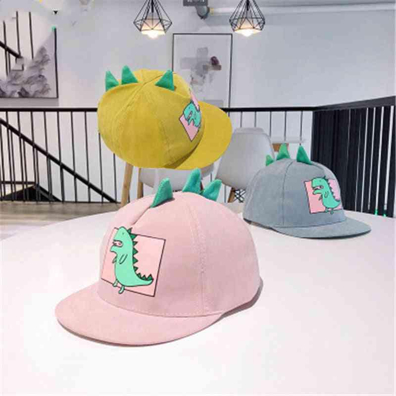 Children's Toy Baseball Cap Cute Cartoon Dinosaur Hat 5 Colors Baby Tennis Casual Hip-hop Cute Style Sun