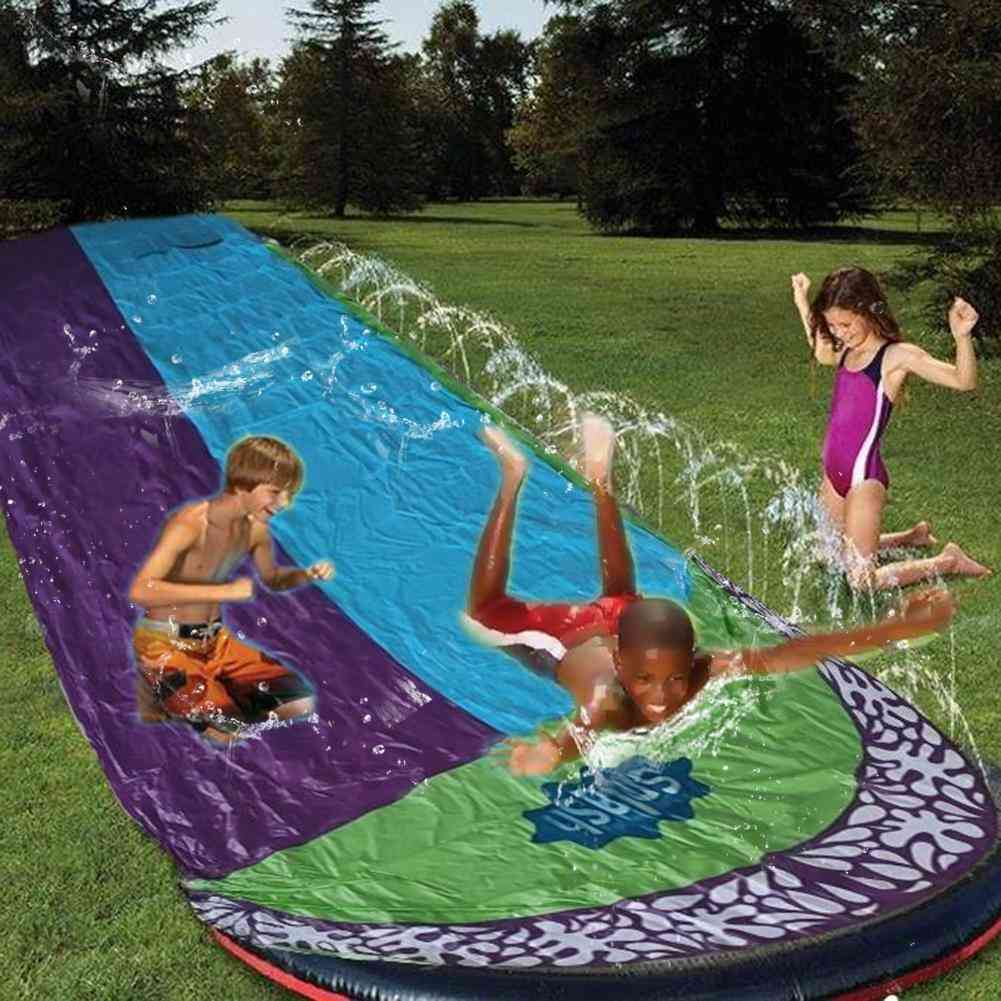 Double Surf Water Slide Pvc Inflatable Lawn Water Pools Backyard Outdoor Water Games Toy Toboggan