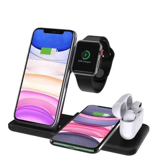 4 In 1 Qi 15w Fast Wireless Charger Pro