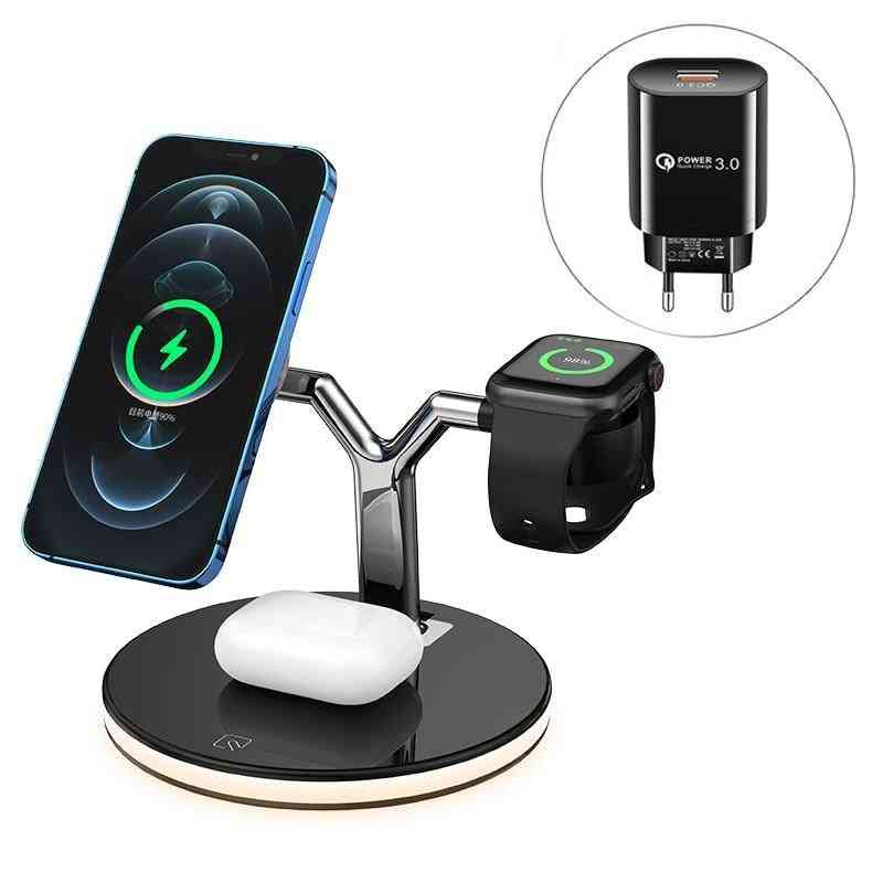 3 In 1 Magnetic Wireless Charger 15w Fast Charging Station