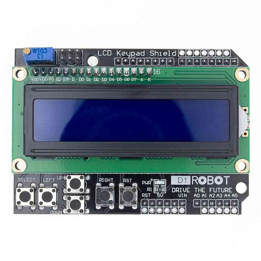 Lcd Keypad Shield Lcd1602 Lcd 1602 Module Display Blue Screen For Arduino