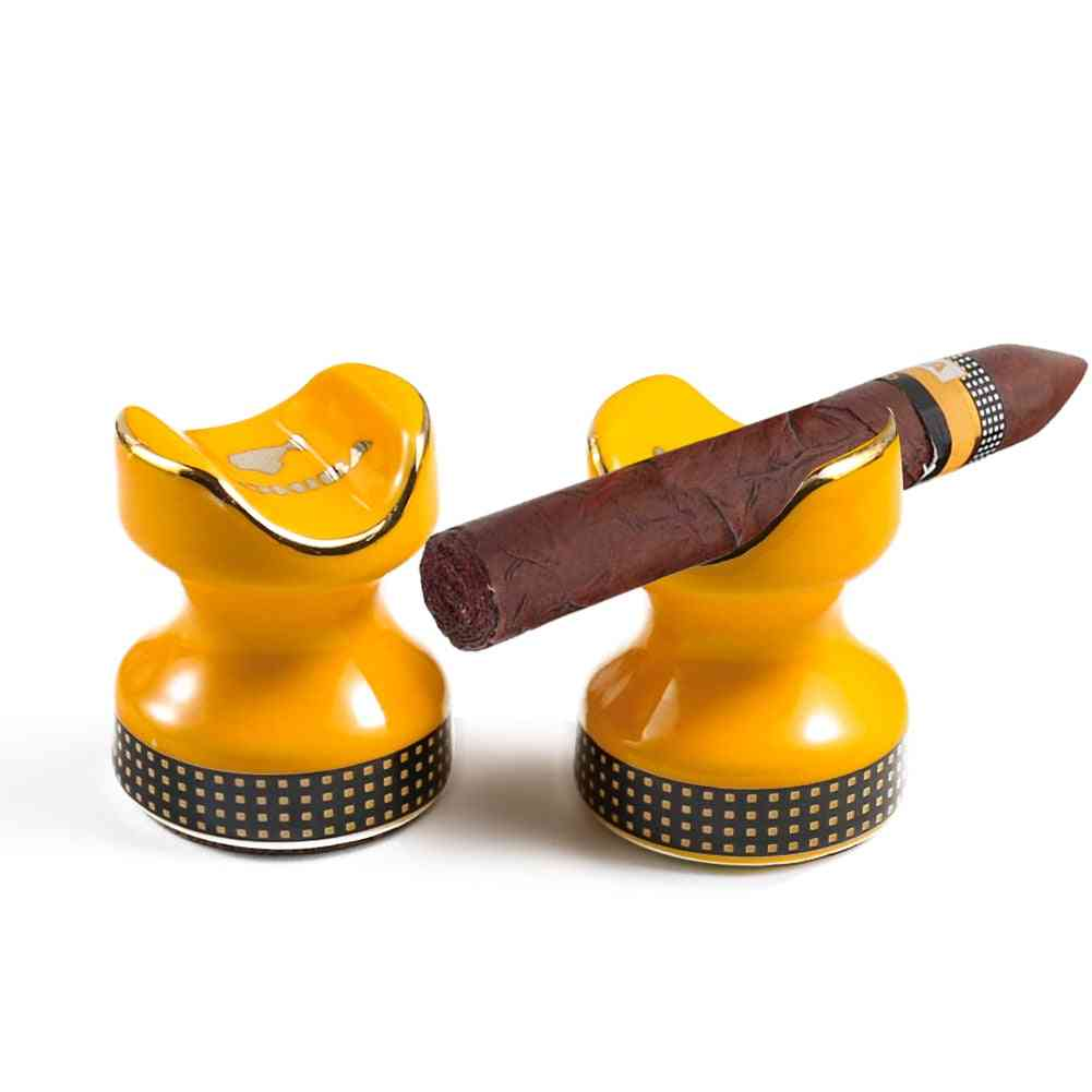 Mini Portable Ceramic Cigar Holder Stand