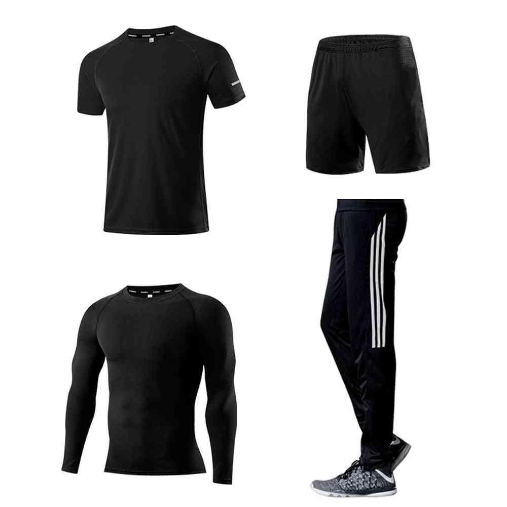 Men's Sports Running Set, Compression T-shirt+pants