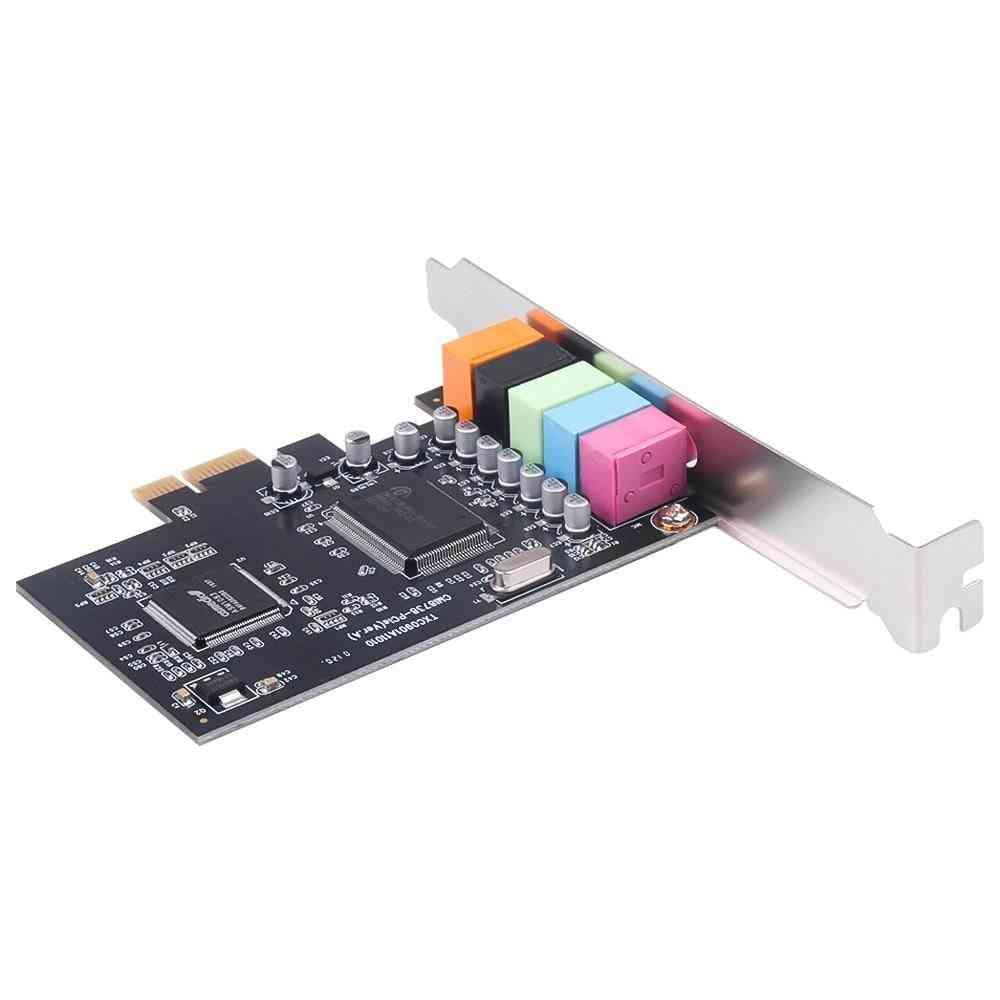 Pci Sound Card 5.1ch 5.1 Channel Cmi8738 Chipset Audio Interface Pci-e 5.1 Stereo