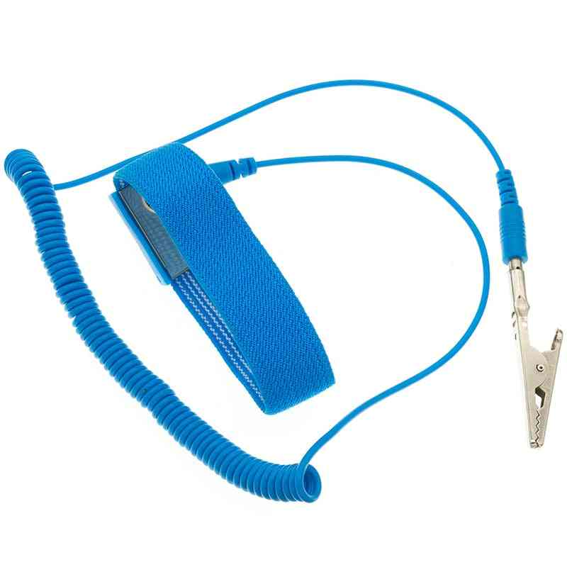 Bracelet Esd Discharge Cable Reusable Wrist Band Strap Hand With Grounding Wire