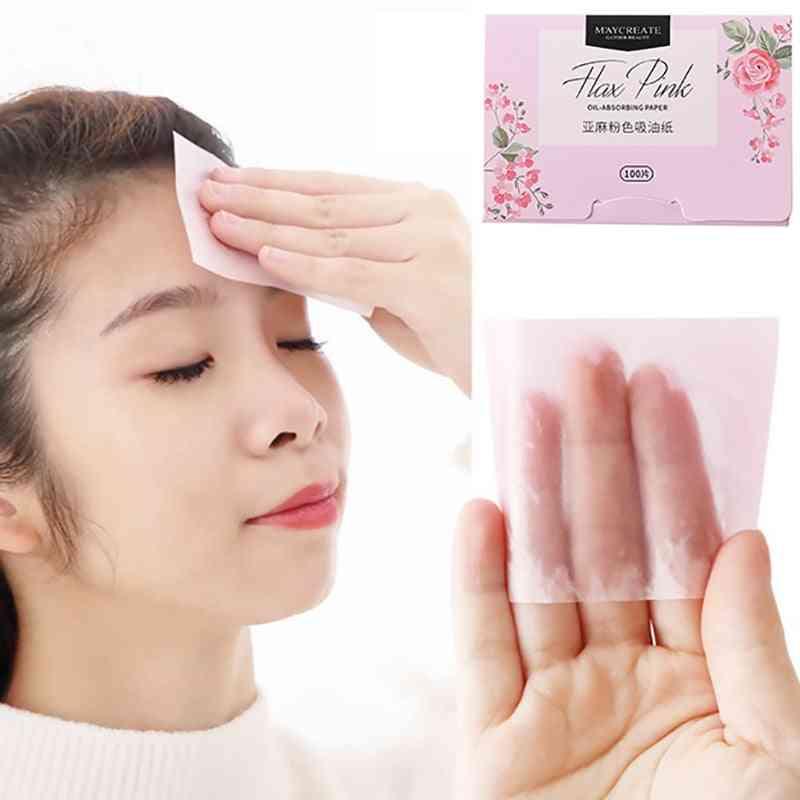 Plant Fibres Linen Pulp Makeup Cleansing Oil Absorbing Face Paper