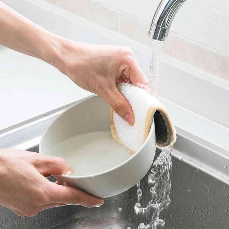 Anti Grease Wiping Rags, Absorbent Washing Dish Sponge