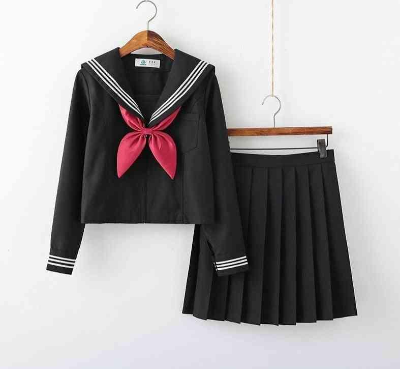 Summer Short/long Sleeve School Uniforms Sets