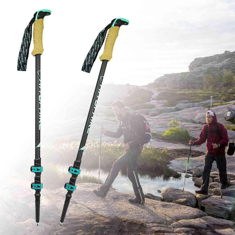 Carbon Fiber Lightweight Trekking Pole Walking Stick