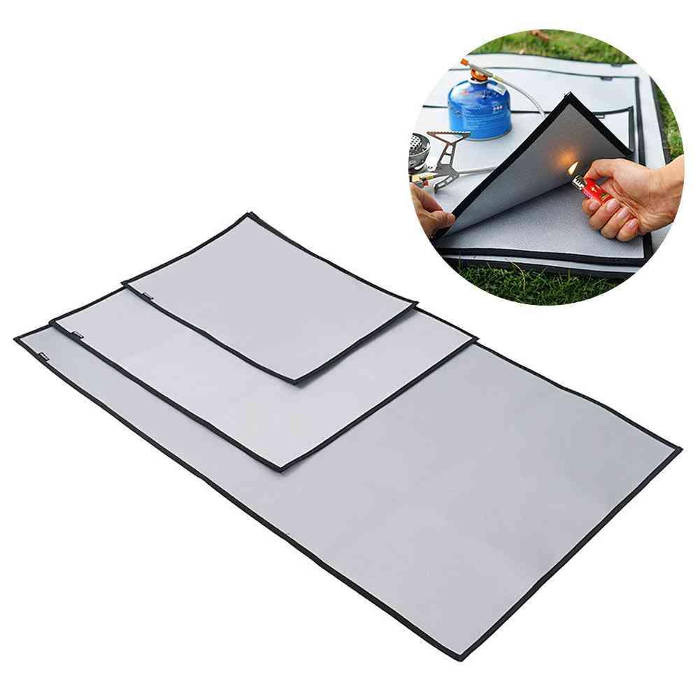 Fireproof Grill Mat. Cloth Flame Retardant Ember Mat