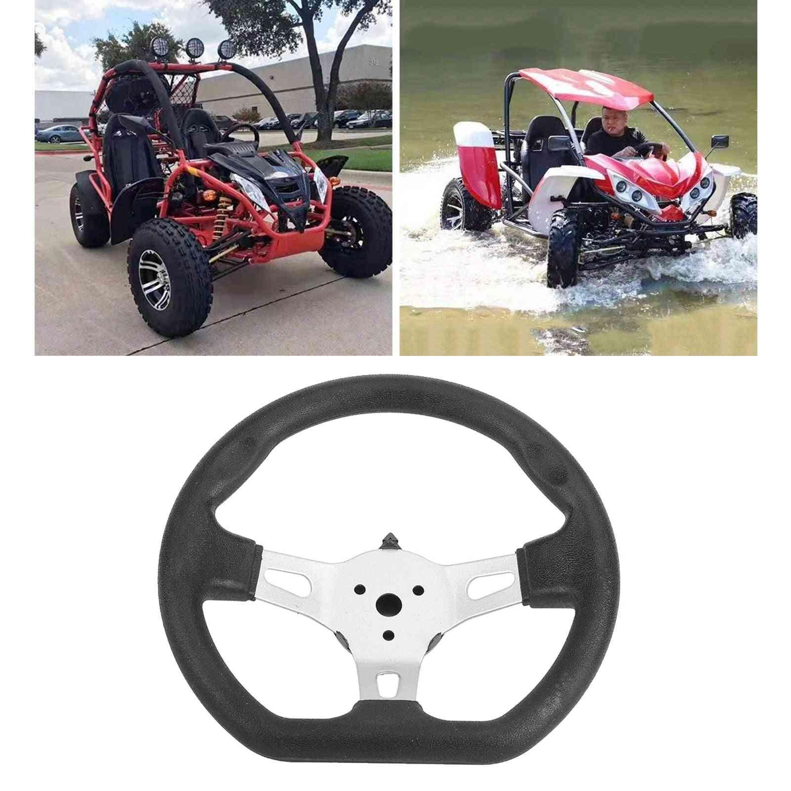 3-spoke Steering Wheel For Go Cart Scooter Karting Balance