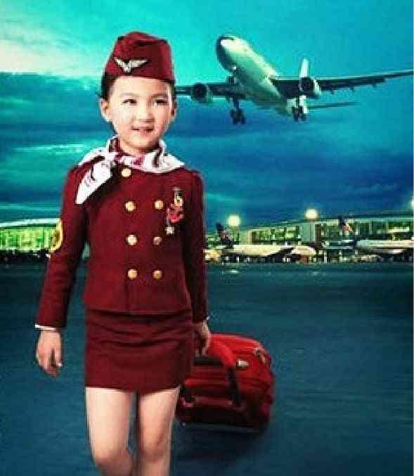 Pilot Uniformed Boy Child Aircraft