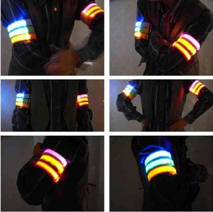 Running Light Bracelet Warning Used For Night Uniform On Road Security