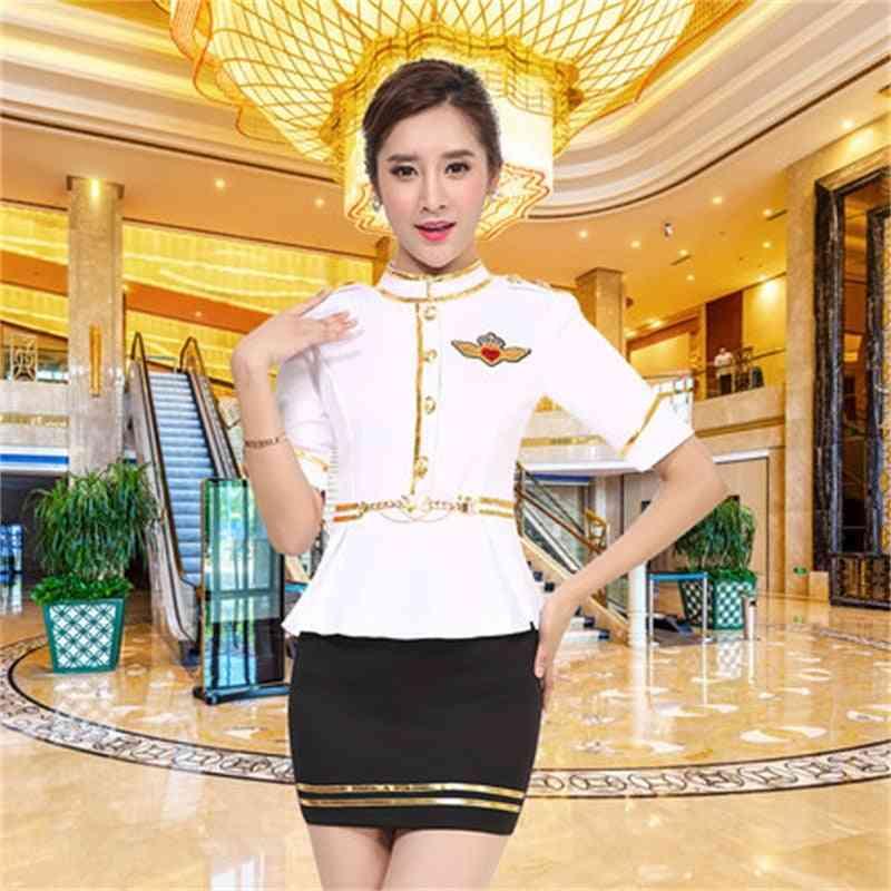 New Hotel Club, Foot Bath Technician Long Sleeves Nightclub Ktv Princess Flight Attendants Autumn And Winter Clothes