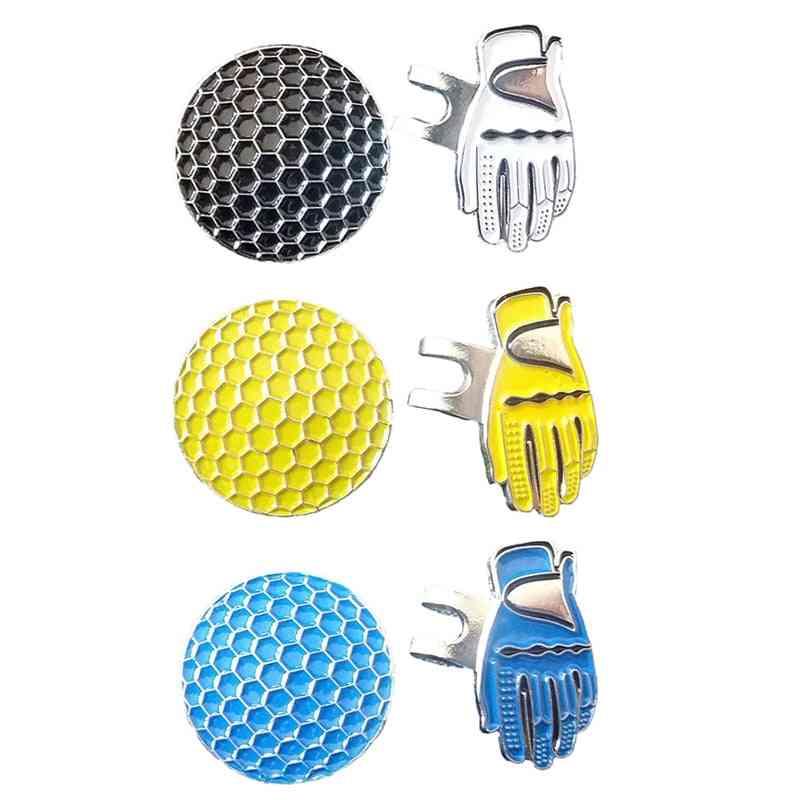Metal Golf Ball Marker Set Hat Clip