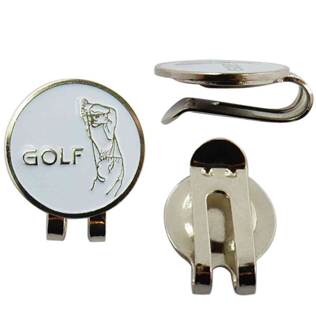 Premium Golfer Sports Hat Clip Golf Ball Marker