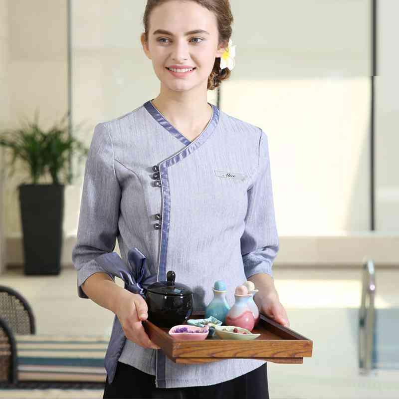 Sleeve Career Cosmetics Shop Uniforms