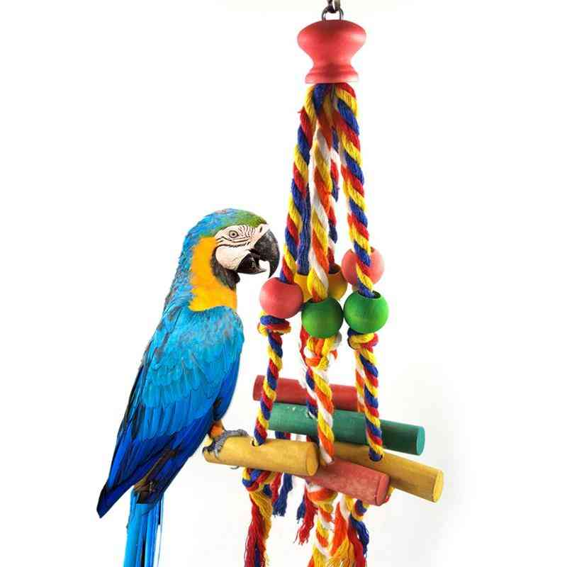 Bird Chewing Toy Cotton Rope Parrot Toy Bite Resistant Bird Tearing Toy