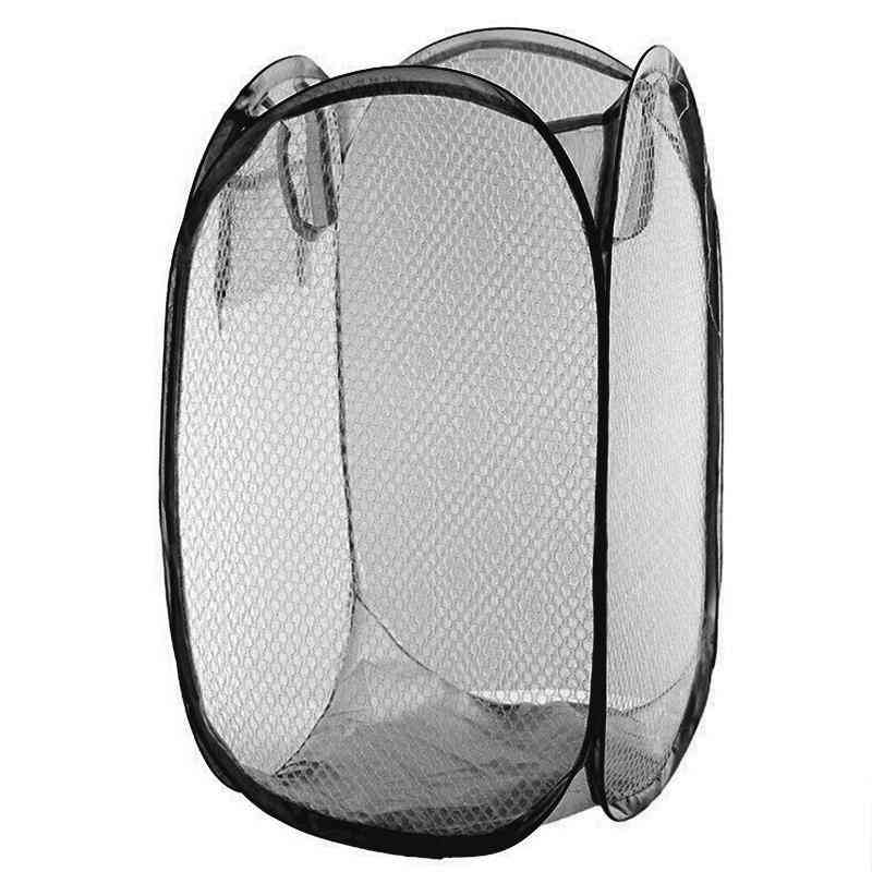 Foldable Laundry Baskets Pop Up Easy Open Mesh
