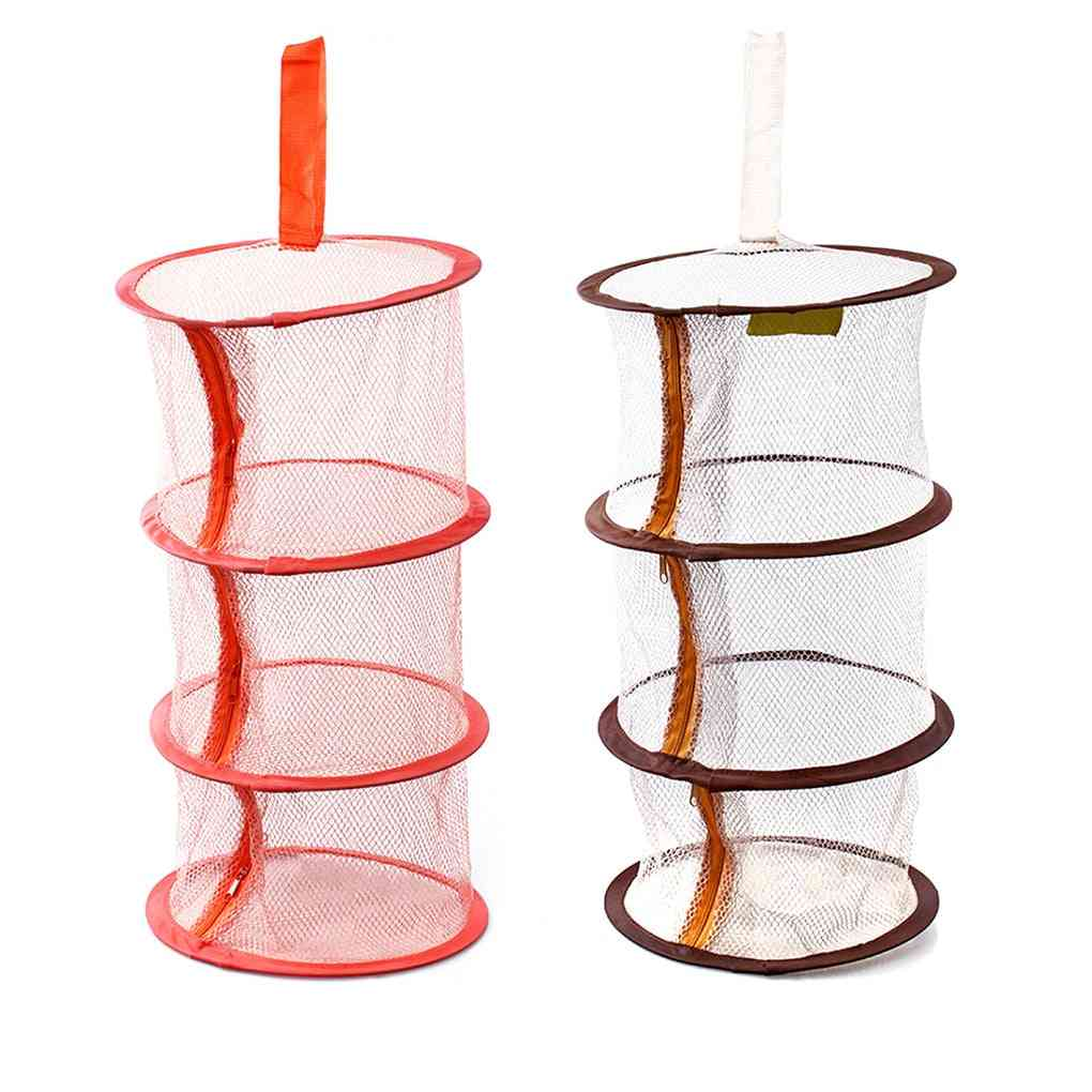 Zipper Bra Drying Basket 3-layer Hanging Net Mesh