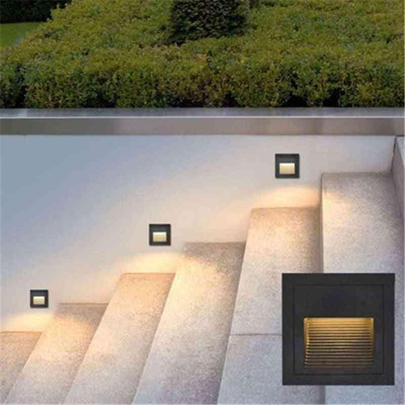 Ip65 Underground Led Step Stair Lights / Footlight Recessed Corner Wall Lamp