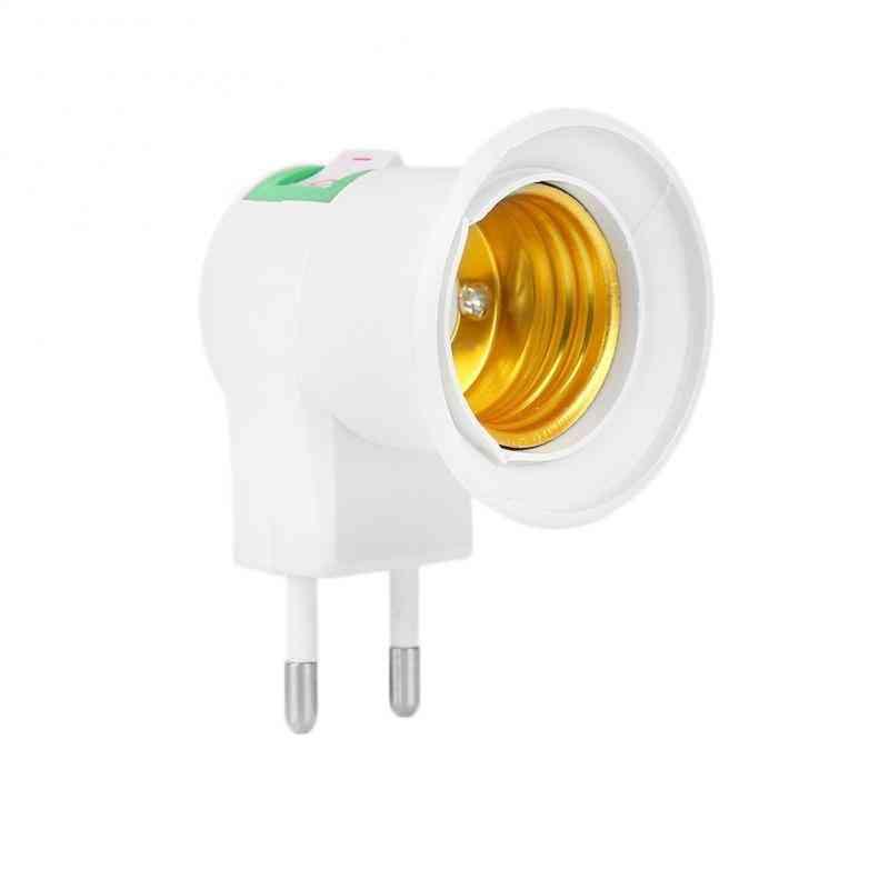 Led Light Socket To Eu Plug Holder Adapter Converter