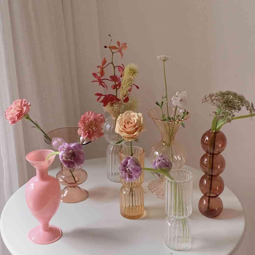 Glass Vase Potted, Decoration Nordic Vase