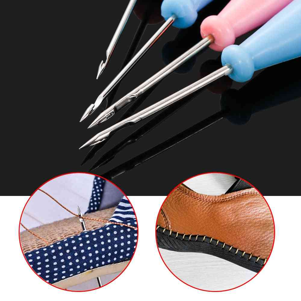 Sewing Awl Bags Hole Hook Diy Handmade Leather Craft Tool Plastic Handle Cone Needle Shoe Repair Needle
