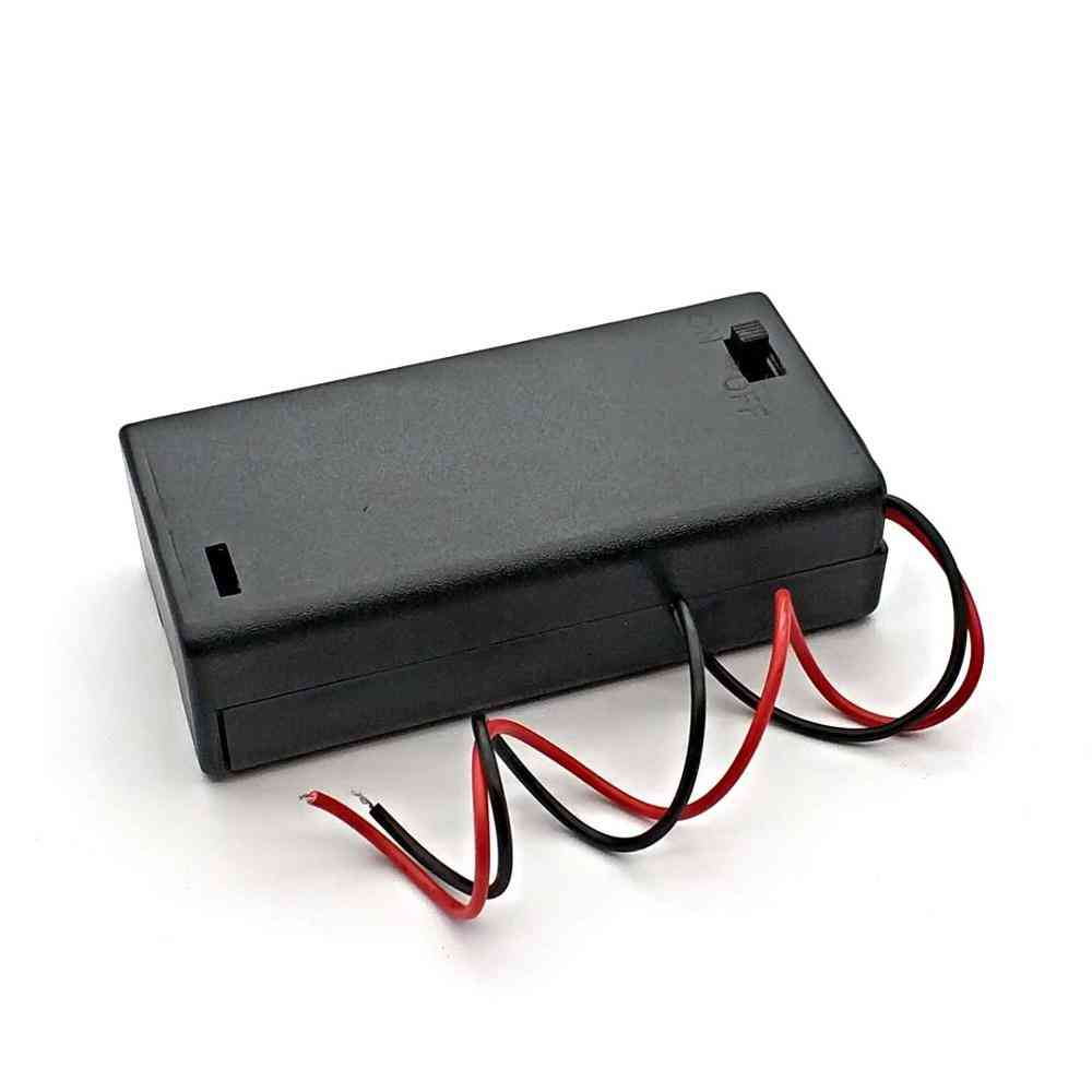 Battery Holder Connector Storage Case, Box, Switch With Lead Wire, Lightweight